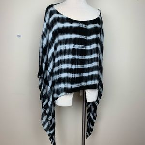 Tie Dye flowing Poncho top / cover up